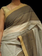 Load image into Gallery viewer, Beige | Handaloom Saree - Moha Atelier