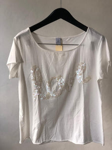 Maidenlove- Love tee with sequens