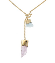 Load image into Gallery viewer, Tigerframe- Silver necklace aquamarine iolite