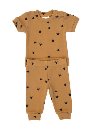 Mebie Baby Suns Two Piece Cozy Set
