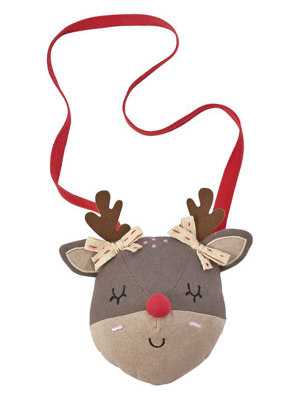 Mud Pie Plush Reindeer Purse