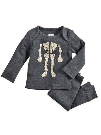 Mud Pie Skeleton Two Piece Set