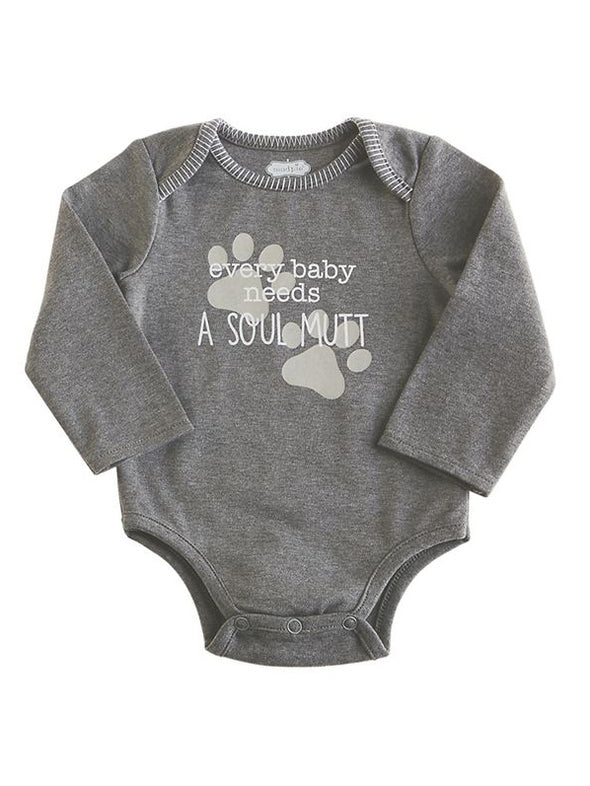 Mud Pie Soul Mutt Cotton Bodysuit