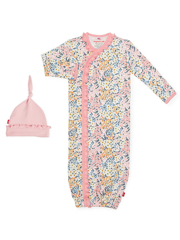 Magnetic Me Chelsea Organic Cotton Gown + Hat
