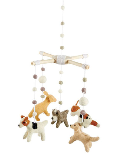 Mud Pie Wool Puppy Pom-Pom Mobile