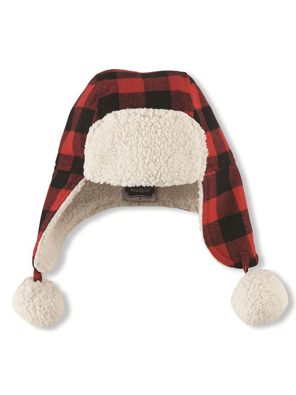 Mud Pie Buffalo Check Infant Hat
