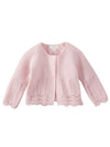 Mud Pie Pink Eyelet Cotton Cardigan
