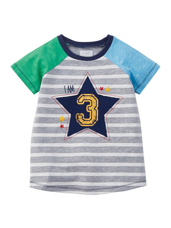 Mud Pie Boy Third Birthday T-Shirt