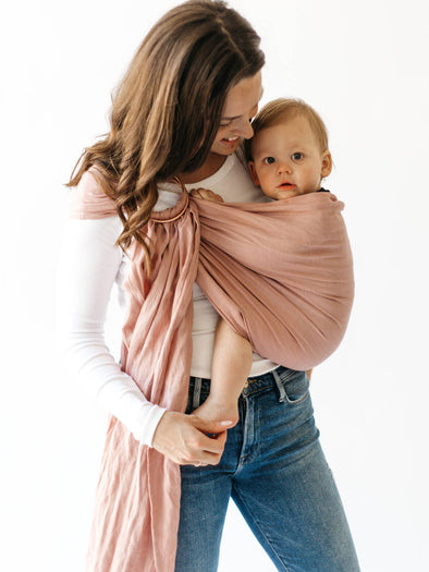 Kyte Baby Ring Sling in Dogwood with Rose Gold Rings