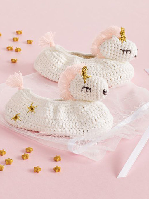 Mud Pie Knitted Unicorn Booties