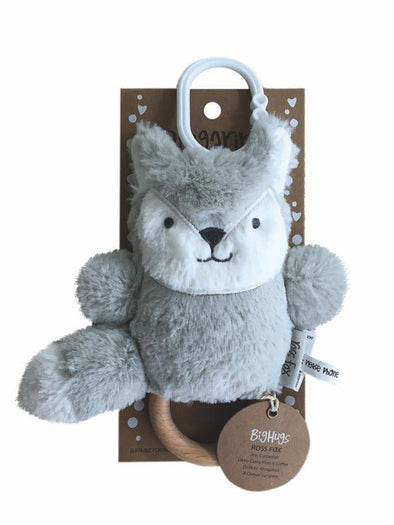Ross Fox Wooden Teether (Silver)