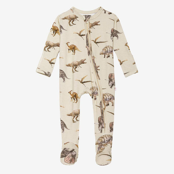 Posh Peanut Vintage Dino Zippered Footie