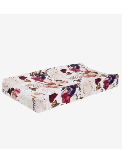 Posh Peanut Black Rose Changing Pad Cover