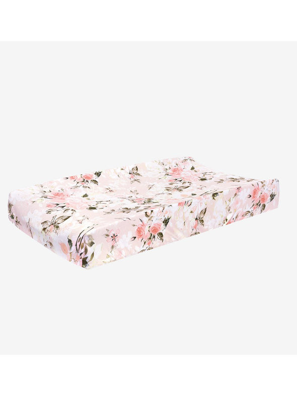 Posh Peanut Vintage Pink Rose Changing Pad Cover