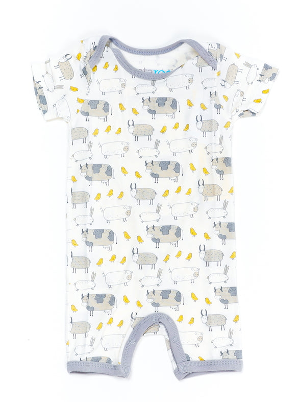 Farm Animals Short Romper