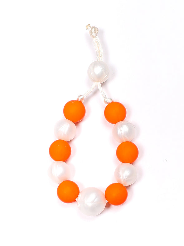 Three Hearts Michelle Bracelet-Orange Peel and Pearl