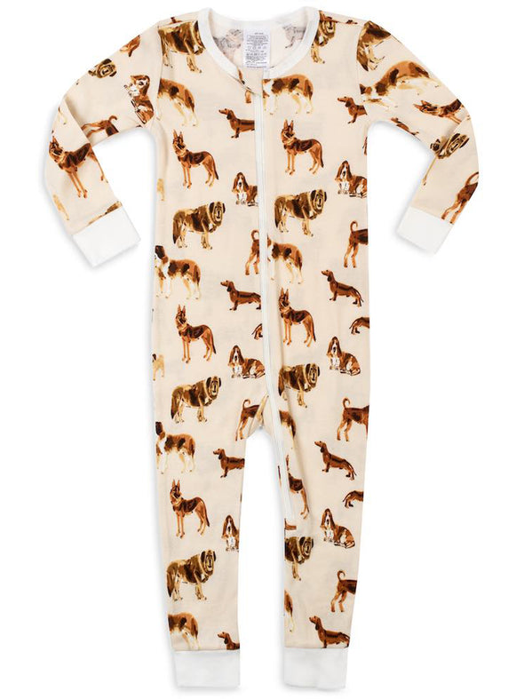 OrganicZipper Pajama - Natural Dog