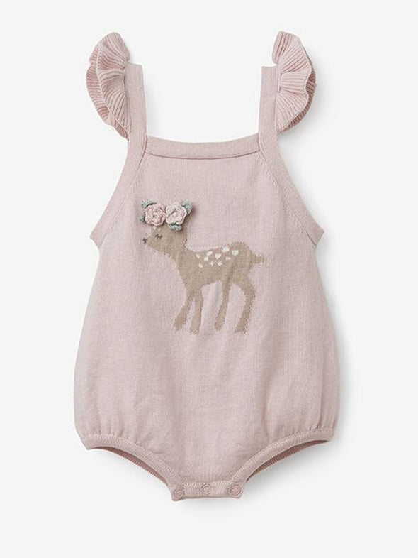 Fawn Baby Knit Bubble Romper