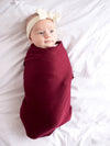 Copper Pearl Ruby Swaddle Blanket