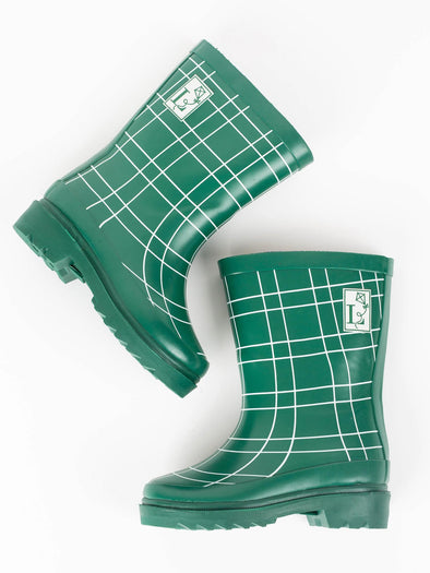London Littles King's Cross Green Rain Boots