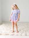 Posh Peanut Samantha Toddler Peplum & Ruffled Shorts