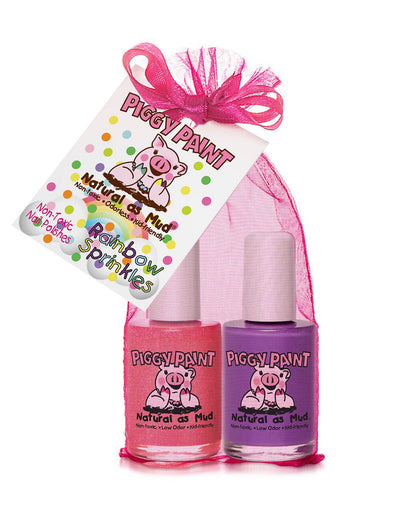 Rainbow Sprinkles 2 Pack Gift Set - Piggy paint
