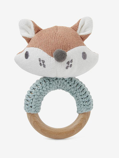 Felix Fox Knit Ring Rattle