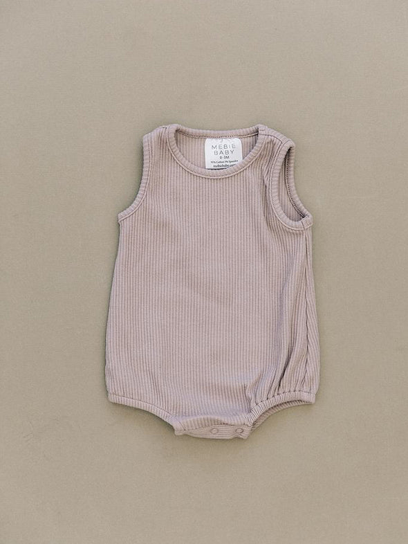 Mebie Baby Ribbed Bubble Romper