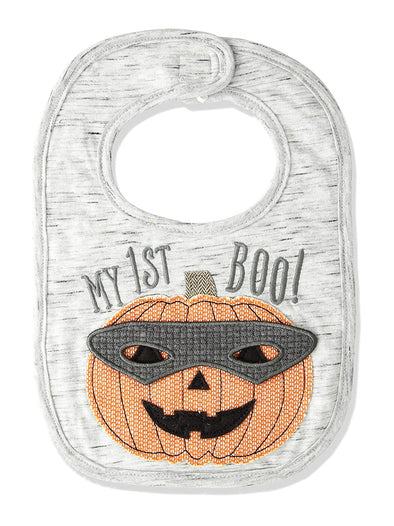 Mud Pie Pumpkin Mask Bib
