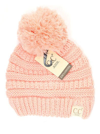 CC Solid Single Pom Baby Beanie Indi Pink