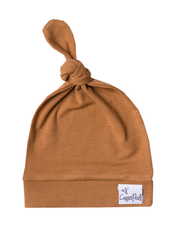 Copper Pearl Camel Knot Hat