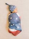 Copper Pearl Patriot Top Knot Hat