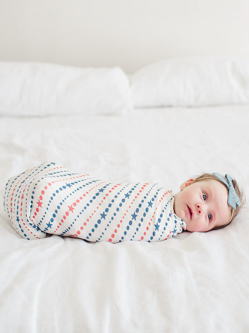Copper Pearl Glory Swaddle Blanket