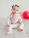 Copper Pearl Sweetheart Bandana Bibs