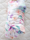 Copper Pearl Bloom Swaddle Blanket