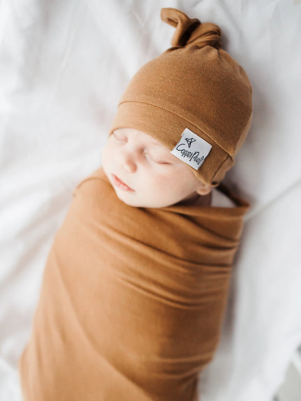 Copper Pearl Camel Swaddle Blanket