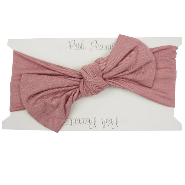 Posh Peanut Dusty Rose Swaddle and Headwrap Set