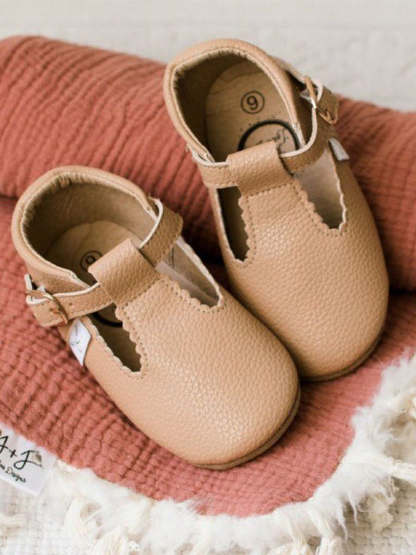 Nude T Bar Moccasin