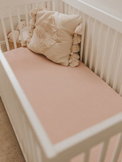 Mauve Crib Sheet