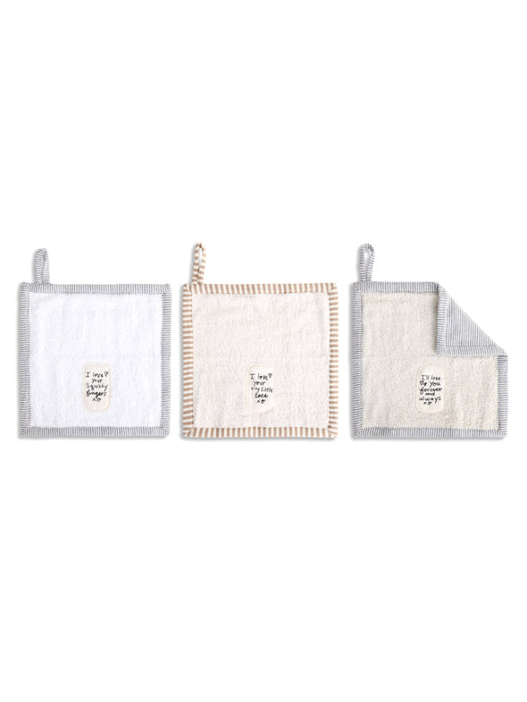 I Love You Washcloth - Set of 3