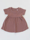 Mebie Baby Ribbed Organic Cotton Dress
