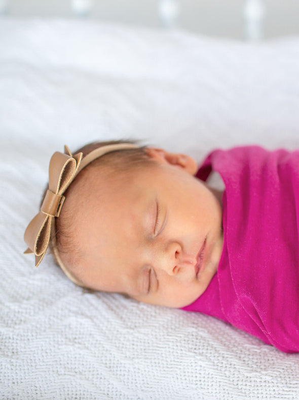 Copper Pearl Berry Swaddle Blanket
