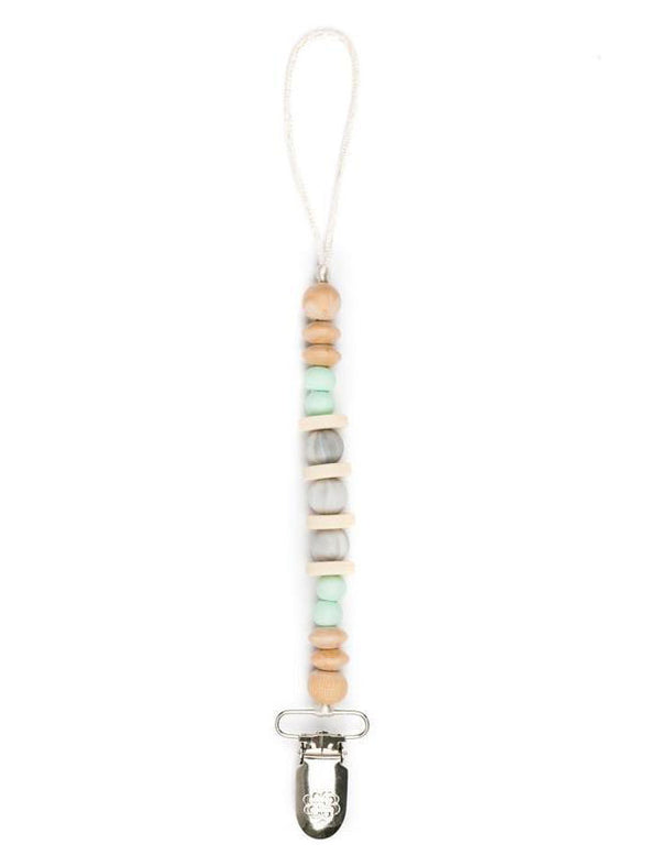 Bella Tunno Madison Mint Marble Pacifier Clip