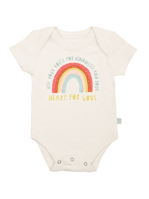 Finn + Emma Kindness and Love Rainbow Graphic Bodysuit