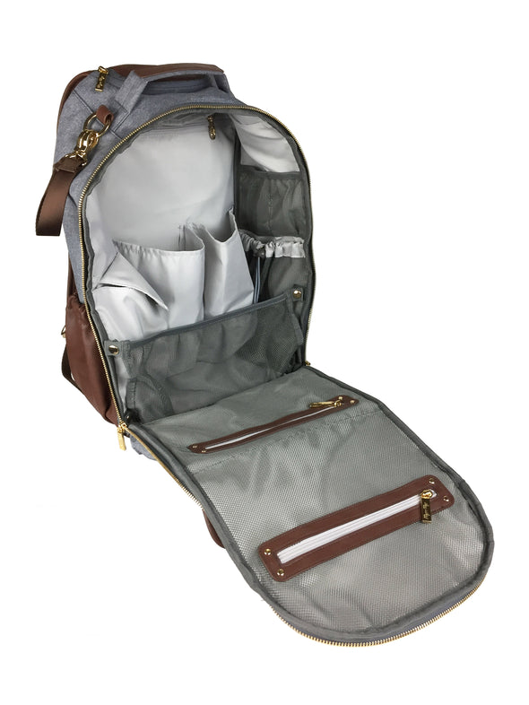 Itzy Ritzy Handsome Heather Grey Boss Diaper Bag Backpack