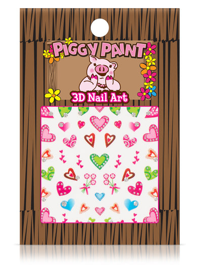 Piggy Paint Multi Colored Hearts Nail Art