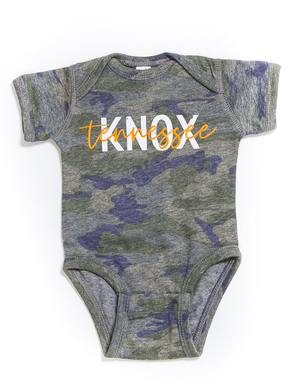 KNOX Tennessee Camo Onesie