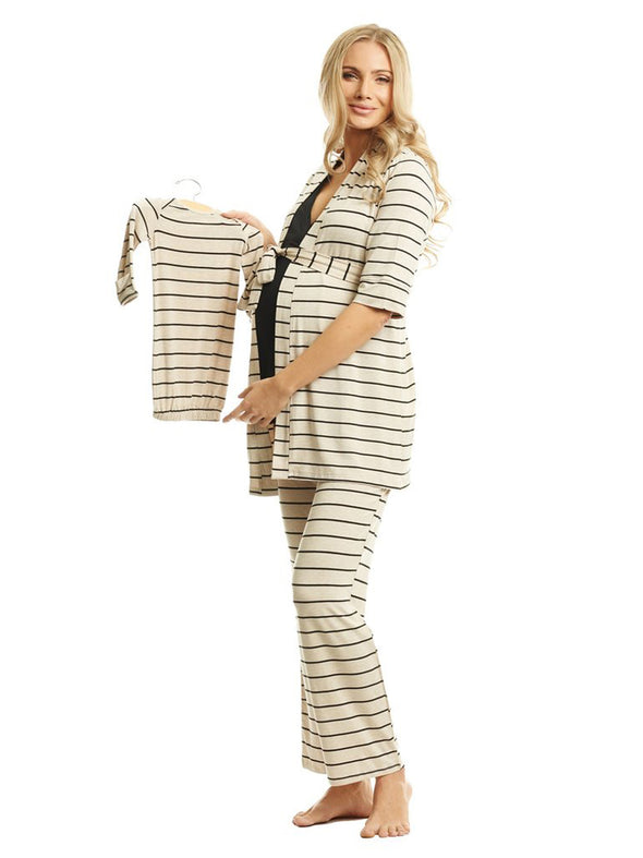 Analise Five Piece Set - Sand Stripe