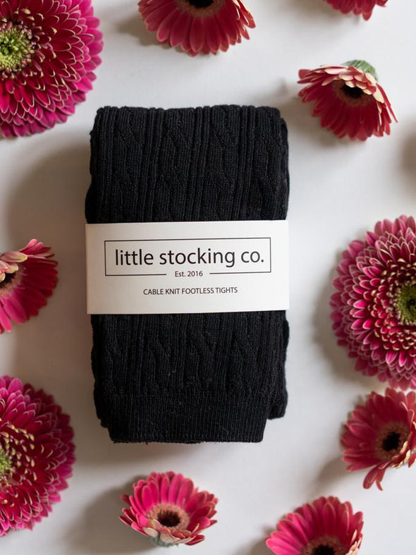 Little Stocking Co. Black Footless Tights