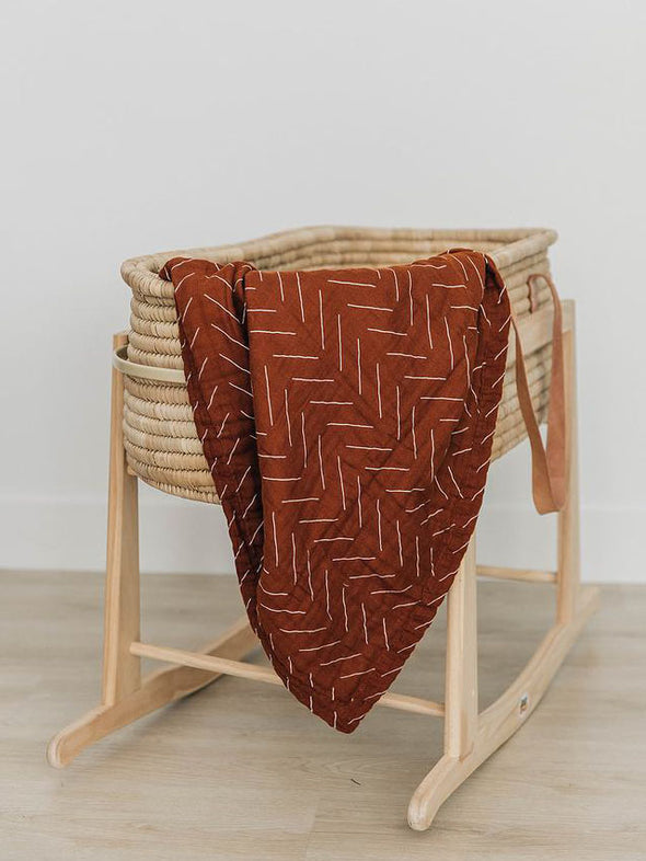 Mebie Baby Rust Mudcloth Muslin Quilt